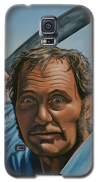 Robert Shaw In Jaws Galaxy S5 Case by Paul Meijering