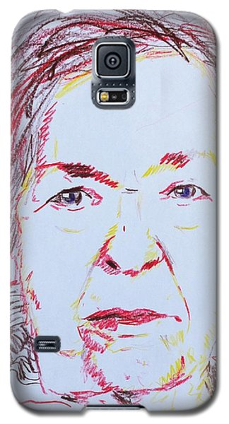 Galaxy S5 Case featuring the drawing Roberta's Portrait by PainterArtist FINs husband Maestro