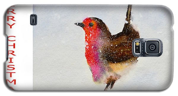 Robin Christmas Card Galaxy S5 Case by Genevieve Brown