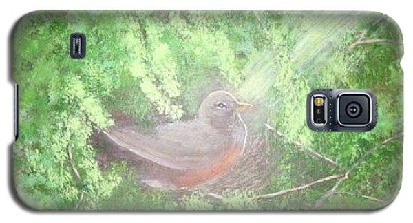 Robin On Her Nest Galaxy S5 Case