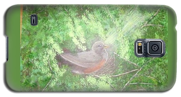 Robin On Her Nest Galaxy S5 Case
