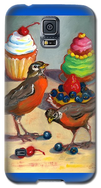 Galaxy S5 Case featuring the painting Robins And Desserts by Susan Thomas