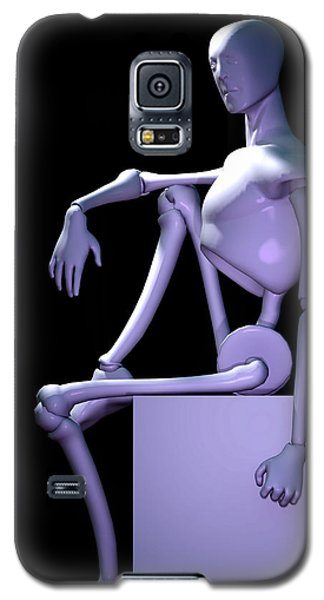 Galaxy S5 Case featuring the digital art Robot In Thought... by Tim Fillingim