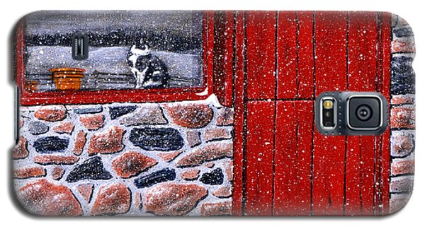 Galaxy S5 Case featuring the painting Rob's Barn by Ron Haist