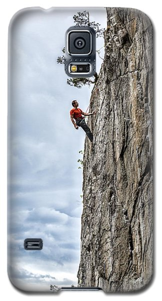 Galaxy S5 Case featuring the photograph Rock Climber by Carsten Reisinger