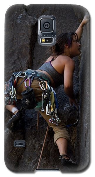 Galaxy S5 Case featuring the photograph Rock Climbing by Brian Williamson