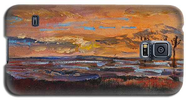 Rock Harbor Sunset Galaxy S5 Case by Michael Helfen