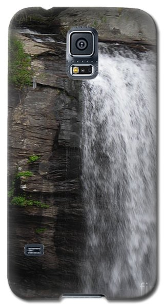 Galaxy S5 Case featuring the digital art Rock Waterfall By Angelia Clay by Angelia Hodges Clay