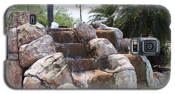 Galaxy S5 Case featuring the photograph Rock Waterfall by John Mathews
