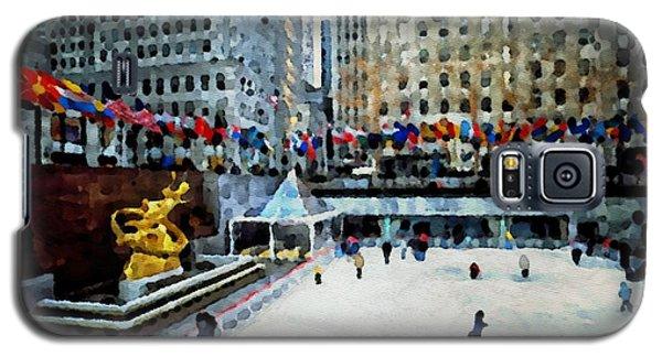 Rockefeller Center Ice Skaters Nyc Galaxy S5 Case