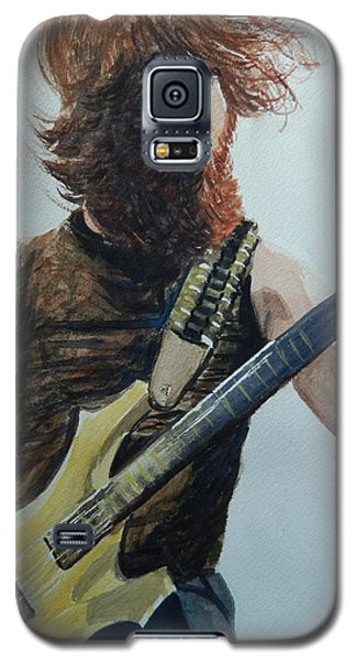Galaxy S5 Case featuring the painting Rockin It Out by Betty-Anne McDonald