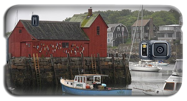 Rockport Inner Harbor With Lobster Fleet And Motif No.1 Galaxy S5 Case by Christiane Schulze Art And Photography