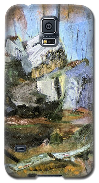 Galaxy S5 Case featuring the painting Rocks At Kittatinny by Michael Daniels