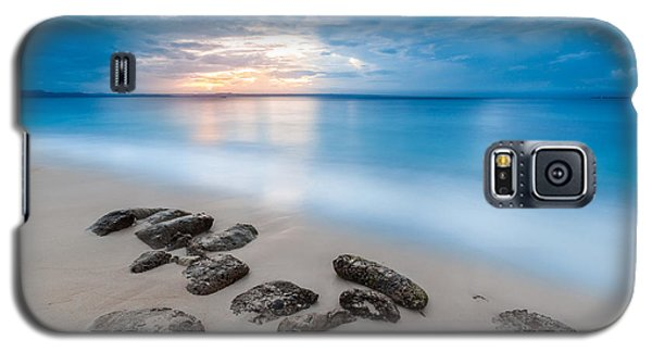 Galaxy S5 Case featuring the photograph Rocks By The Sea by Mihai Andritoiu