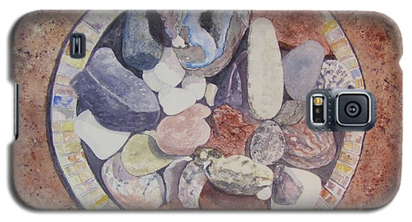 Galaxy S5 Case featuring the painting Rocks by Carol Flagg