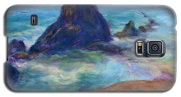 Rocks Heading North - Scenic Landscape Seascape Painting Galaxy S5 Case