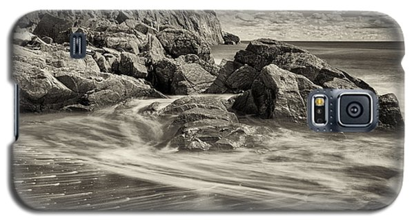 Rocky Beach Motion Blur Waves Galaxy S5 Case