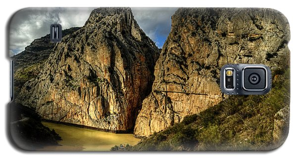 Galaxy S5 Case featuring the photograph Rocky El Chorro In Andalusia by Julis Simo