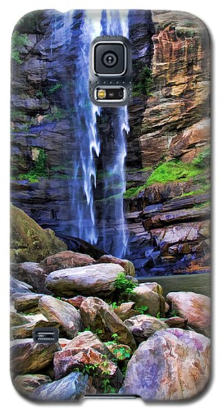 Galaxy S5 Case featuring the photograph Rocky Falls by Kenny Francis