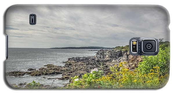 Galaxy S5 Case featuring the photograph Rocky Maine Shoreline by Jane Luxton