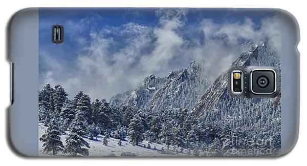 Rocky Mountain Dusting Of Snow Boulder Colorado Galaxy S5 Case