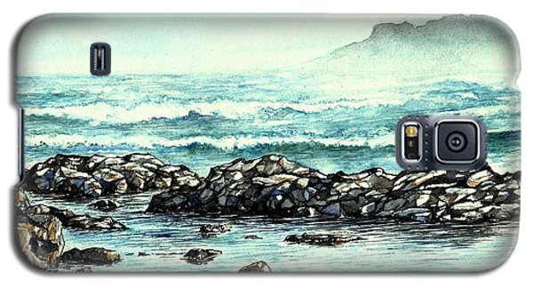 Galaxy S5 Case featuring the painting Rocky Seashore by Heidi Kriel