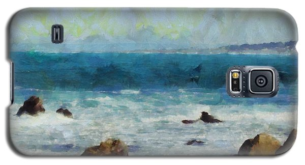 Galaxy S5 Case featuring the digital art Rocky Seashore by Kai Saarto