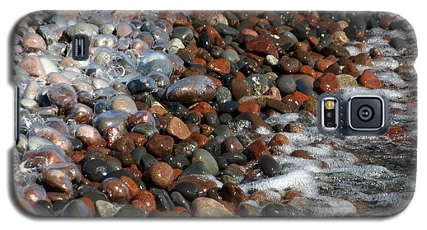 Rocky Shoreline Abstract Galaxy S5 Case by James Peterson