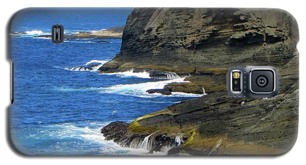 Galaxy S5 Case featuring the photograph Rocky Shores by Tikvah's Hope