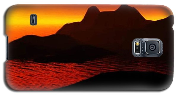 Rocky Sunset Galaxy S5 Case by P Dwain Morris