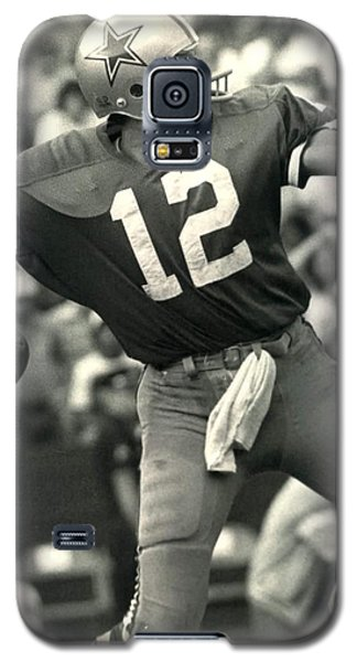 Roger Staubach Vintage Nfl Poster Galaxy S5 Case by Gianfranco Weiss