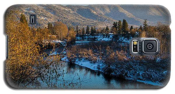 Rogue River Winter Galaxy S5 Case by Mick Anderson