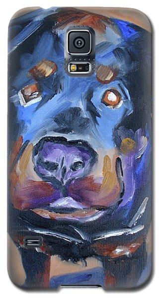 Galaxy S5 Case featuring the painting Roman by Donna Tuten