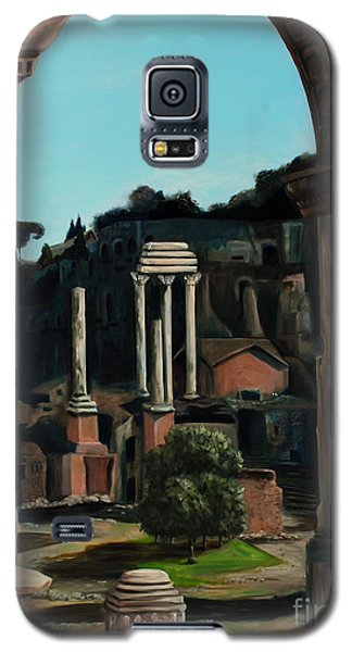 Galaxy S5 Case featuring the painting Roman Forum by Nancy Bradley