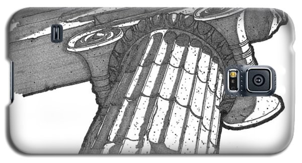 Galaxy S5 Case featuring the drawing Roman Ionic Column Capital by Calvin Durham
