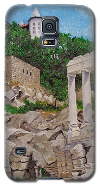 Galaxy S5 Case featuring the painting Roman Stadium In Plovdiv by Nina Mitkova