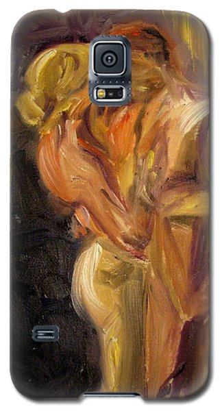 Galaxy S5 Case featuring the painting Romance by Donna Tuten