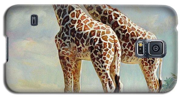 Romance In Africa - Love Among Giraffes Galaxy S5 Case