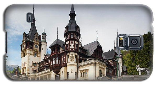 Romania, Transylvania, Sinaia, Peles Galaxy S5 Case by Walter Bibikow