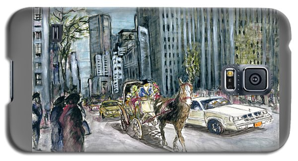 New York 5th Avenue Ride - Fine Art Painting Galaxy S5 Case