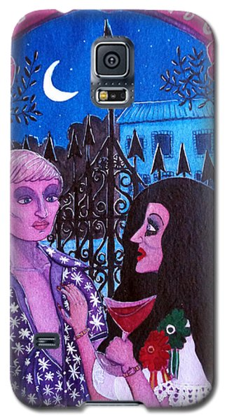 Galaxy S5 Case featuring the painting Romantic Couple by Don Pedro De Gracia