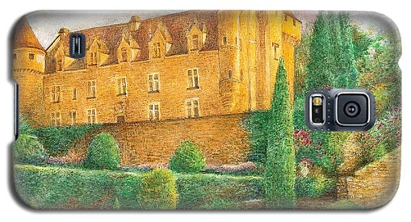 Galaxy S5 Case featuring the painting Romantic French Chateau by Judith Cheng