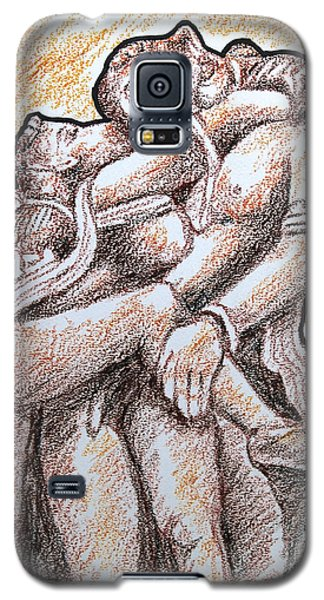 Galaxy S5 Case featuring the painting Romantic Love by Ragunath Venkatraman
