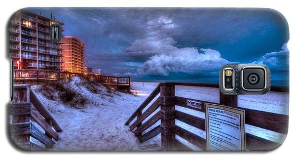 Romar Beach Clouds Galaxy S5 Case