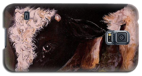 Galaxy S5 Case featuring the painting Ron The Bull by Maria  Disley