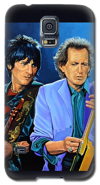 Rolling Stone Magazine Galaxy S5 Case - Ron Wood And Keith Richards by Paul Meijering