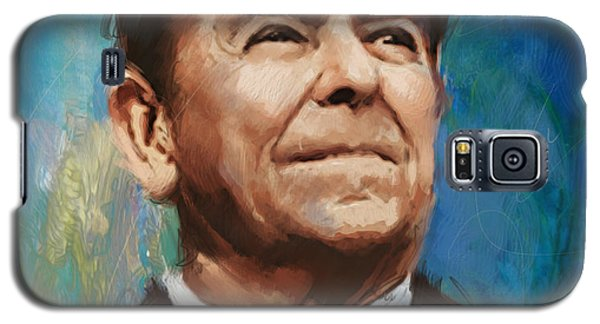 Ronald Reagan Portrait 6 Galaxy S5 Case by Corporate Art Task Force