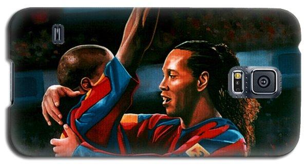 Ronaldinho And Eto'o Galaxy S5 Case by Paul Meijering