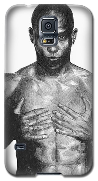Galaxy S5 Case featuring the drawing Ronaldo by Tamir Barkan