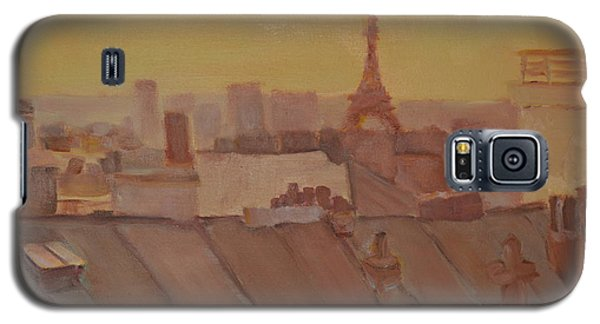 Galaxy S5 Case featuring the painting Roofs Of Paris by Julie Todd-Cundiff